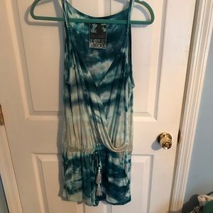 Young Fabulous and Broke Blue Tie Dye Romper M