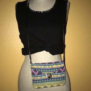 Handbags - Aztec crossed body bag