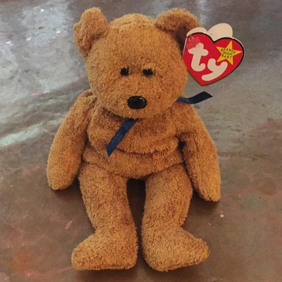 93519422584 Rare Fuzz Beanie Baby with tag errors