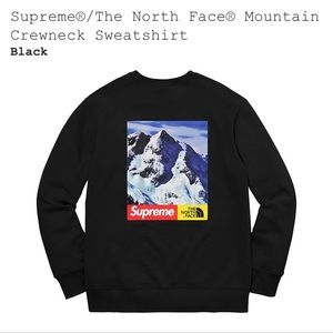 Supreme®/TheNorthFace®Mountain Crewneck sweatshirt