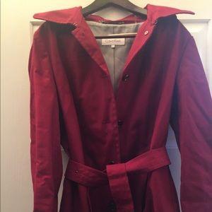 Red Calvin Klein coat L