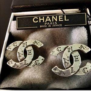 Vintage Classic Chanel CC Earrings