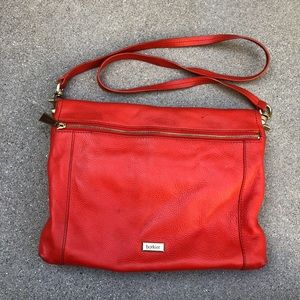 Botkier Red Hobo Crossbody Bag Flap Purse