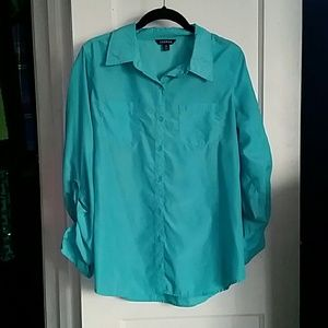 George Turquoise Button Down Shirt