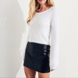 [French Connection] Bell-Sleeve Soft Fuzzy Sweater
