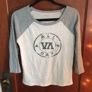 RVCA baseball t shirt