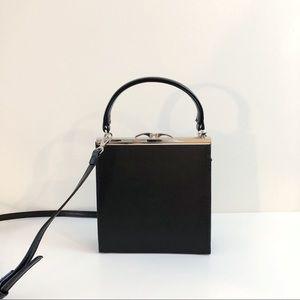 Metal clip vintage look shoulder/clutch bag
