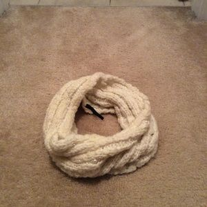 Cream Thick Infinity Scarf