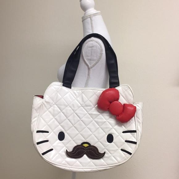 6a046857696 Sanrio Bags   Euc Hello Kitty Mustache Bag   Poshmark
