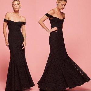 Reformation Black Lace Freesia Dress - NYE/BRIDAL