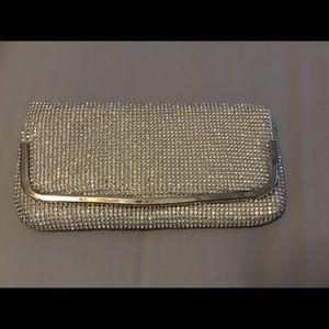 Silver (Metallic) evening clutch