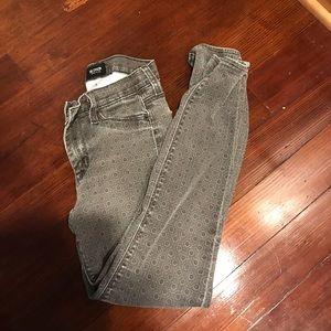 Hudson printed ankle skinny jeans