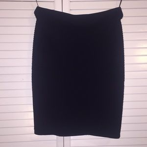 Navy blue bodycon skirt, size xs