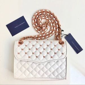 🆕NWT Rebecca Minkoff Quilted Studded Mini Affair