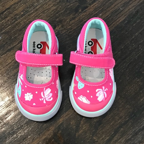 New See Kai Run Pink Mary Jane Sneakers