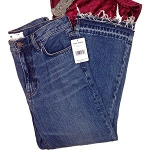Free People Released Hem Cropped Jeans-NWT