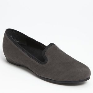 Gray Suede Smoking Loafer size 5.5