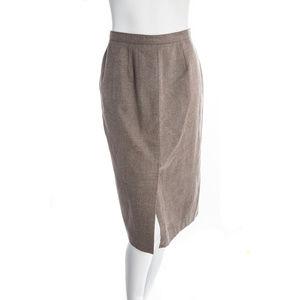 Vintage Neutral Wool Skirt