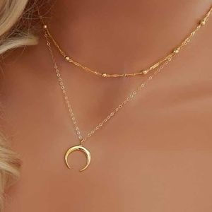 MOONSTRUCK Necklace - gold tone