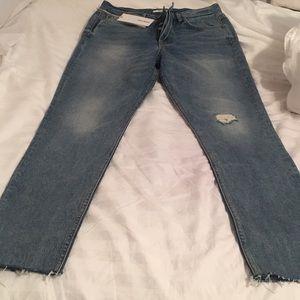 GRLFRND back cut out jeans