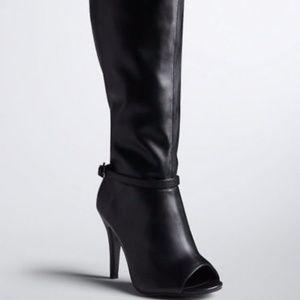 TORRID Knee High Open Toe Boots NWOT 10W