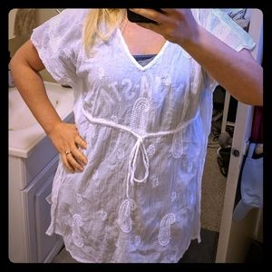 Old Navy White Paisley Beach Cover-up or Dress