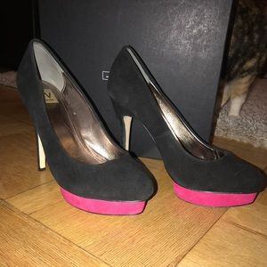 Barely worn platform pumps, 3 1/2 inch heel.