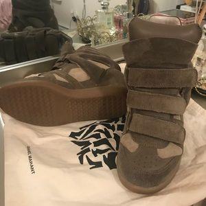 Bekett suede wedge heel Velcro sneakers