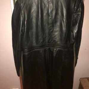 Kenneth Cole leather trench coat