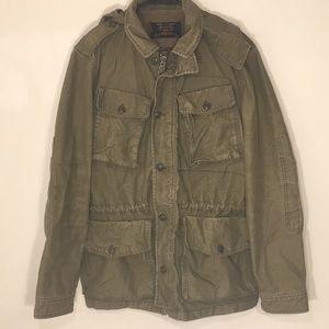 Men's J.Crew Military Grade Distressed Jacket M