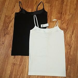 2 Banana Republic Stretch Tank with Silky Necklick