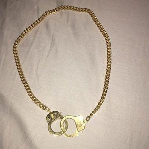 Handcuff chain necklace