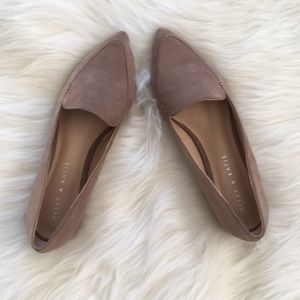 Kelly & Katie pointed toe suede flat