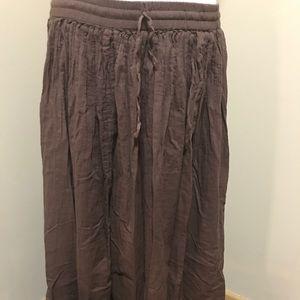 Dresses & Skirts - 🌼NEW🌼Silver Stream Brown Cotton Skirt.