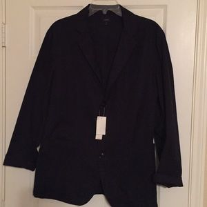 J. Crew black cotton men's blazer