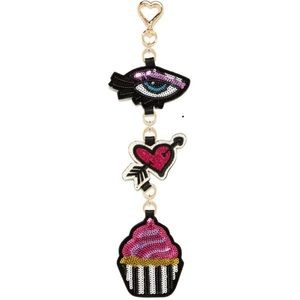 "🎁BETSEY JOHNSON ""I ❤️ Cupcakes"" Keychain/fob!"