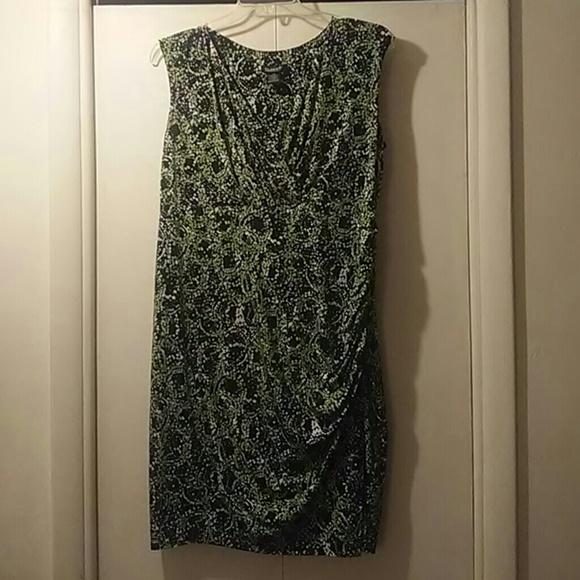 Glamour Dresses | Plus Size Faux Wrap Dress 14w | Poshmark