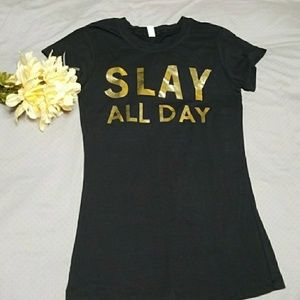 Tops - Stretchy Slay All Day tee