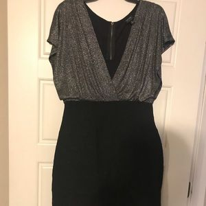 Black and Silver Holiday Dress