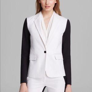 MICHAEL Michael Kors Contrast Sleeve Blazer