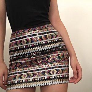 Guess sequin mini skirt
