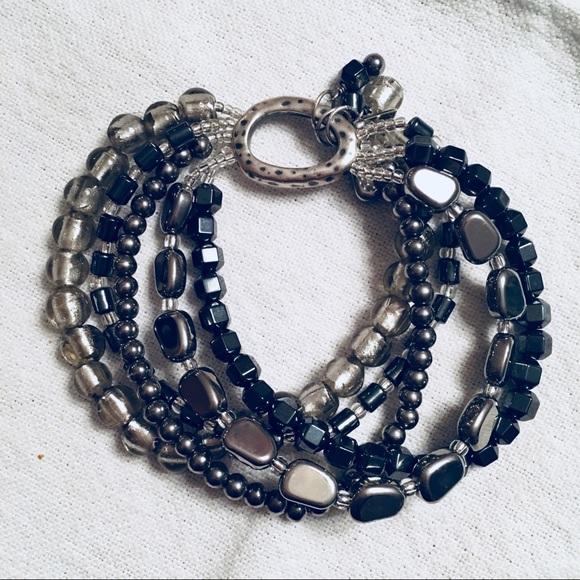 01caf8751206d Silpada 5 strand silver and bead bracelet