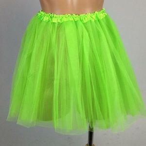 Dresses & Skirts - New Lime Green Tulle Skirt