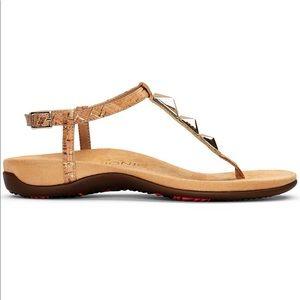 2d4e33564 Vionic Shoes - Vionic Rest Nala Studded Cork T-strap flat sandal