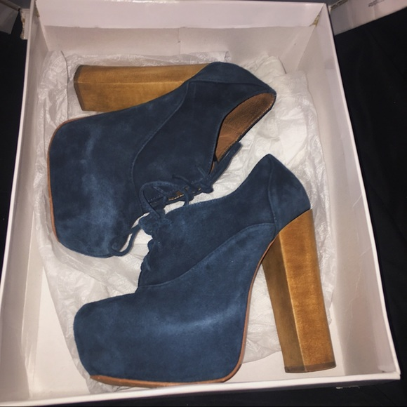 "376f73c3f2b Steve Madden Blue Suede ""Cirkus"" platform heels. M 5a249251c6c795b5b509cbad"