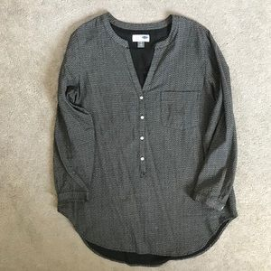 Old Navy tunic top black size large
