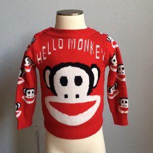 HELLO MONKEY (PAUL FRANK) SWEATER 2T-3T