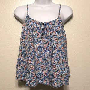 New Anthropologie E Hanger M Floral Flowy Shirt L