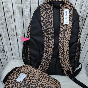 b91b35c68cfd Old Navy Accessories - Old Navy Leopard Print Backpack and Lunchbox Set