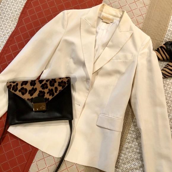 52a5e926a59 Michael Kors Jackets & Coats | Couture Cream Silk Blazer | Poshmark